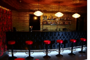 Bar chairs in the Budapest nightclub